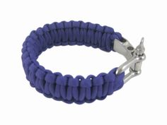 Adjustable Paracord Parachute Cord Survival Bracelet Wristband w/ Steel Buckle Purple