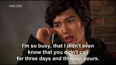 Gu Jun Pyo is way too busy for Jan Di
