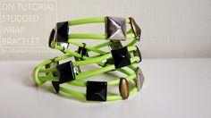 DIY TUTORIAL wrap studded bracelet owijana bransoletka z ćwiekami diy
