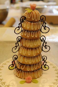 Marzipan ring cake (kransekage DK)