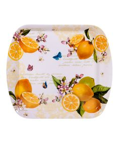 Take a look at this Citronnier Melamine Square Tray by Home Essentials and Beyond on #zulily today! $8 !!