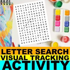 Working on visual tracking skills? These visual saccades activities will help. Visual Motor Activities, Hands On Activities, Reading Activities, Fun Activities, Classroom Games, Classroom Decor, Classroom Management, Alphabet Crafts, Alphabet Activities