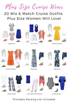 f0d122dd1cc Plus Size Cruise Wear - 20 Mix   Match Cruise Outfits Plus Size Women Will  Love!