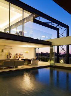 House Ber |  Study overlooking pool  | Nico van der Meulen Architects #Contemporary #Pool #Study