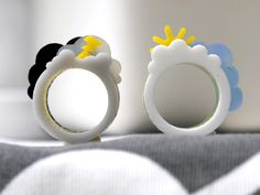 Oh Happy Day / Oh Crappy Day Ring by Weaselfactory