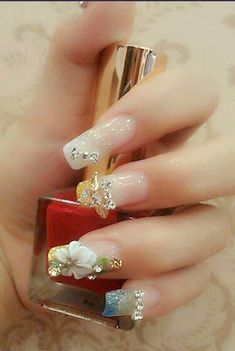 Luxury crystal nail