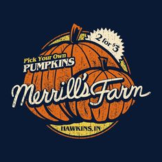 Stranger Things Merrills Farm Pumpkin Picking Men's T-Shirt