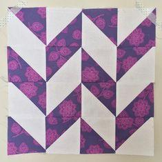 Herringbone Half Square Triangle Quilt Block
