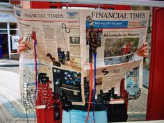 Textiles financial times, inspired by Kirsty Whitlock