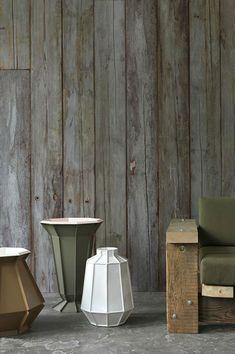 Scrapwood Wallpaper Piet Hein Eek via Nat et nature Wood Effect Wallpaper, Look Wallpaper, Feature Wallpaper, Wallpaper Decor, Pattern Wallpaper, Cross Wallpaper, Luxury Wallpaper, Custom Wallpaper, Wallpaper Ceiling