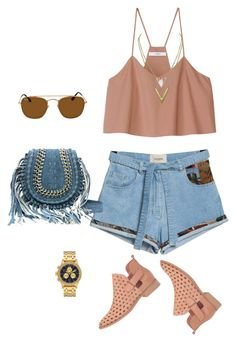 """""""outfit 6261"""" by natalyag ❤ liked on Polyvore featuring TIBI, Coolway, Ray-Ban and Nixon"""