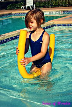 Noodle Races Turn your pool noodles into a racing vehicle across the pool.