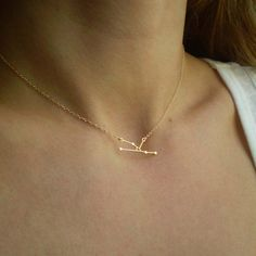 Taurus Constellation Necklace - Zodiac Constellation - Delicate 14k Gold Filled or Sterling Silver