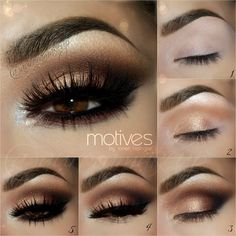 Kim Kardashian Eye Makeup Tutorial - How to Get Kim Kardashian Eyes - Kim Kardashian Makeup Tutorial - Brown Eye Makeup Tutorial, Arabic Makeup Tutorial, Eyeliner Tutorial, Brown Smokey Eye Tutorial, Smokey Eyeshadow Tutorial, Eyeshadow Step By Step, Gold Smokey Eye, Smokey Eye For Brown Eyes, Black Smokey