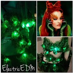 Your place to buy and sell all things handmade Lead Poisoning, Electric Daisy Carnival, Black Bra, Rave Wear, Poison Ivy, Halloween Costumes, My Etsy Shop, Led, Inspired Outfits