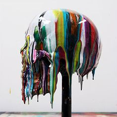 Epoxy resin pigments Skull