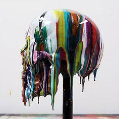 Epoxy resin pigments Skull