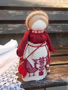 """Купить """"Успешница"""" или """"Богатея"""" Кукла-оберег. - бордовый, народная кукла, тряпичная кукла"""