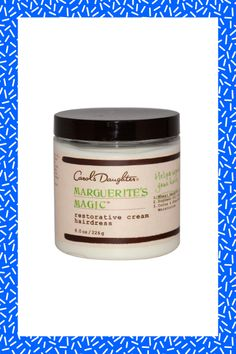 This wonder product restores hair to its natural resiliency, thanks to a blend of nourishing ingredients like shea butter and sweet almond, soybean, and wheat germ oils. It can be used daily to treat dry and over-processed curly, coarse, or mixed texture hair, so you might want to get two jars. #refinery29 http://www.refinery29.com/hair-products-for-summer#slide-25