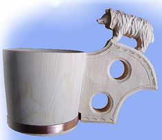 Črpák medveď Wood Carving, Cuff Bracelets, How To Make, Folk, Jewelry, Wood Carvings, Jewlery, Bijoux, Schmuck