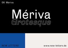 Mériva Grotesque Typeface