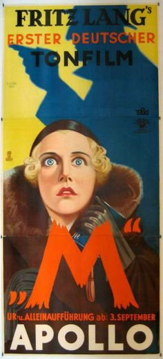 """""""M"""" by Fritz Lang at the Apollo, Poster."""