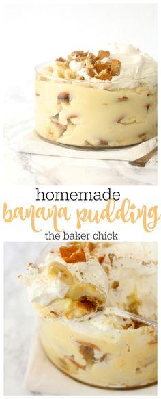 Homemade Banana Pudding More