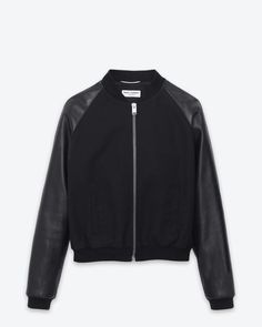 Check out Classic Baseball Jacket in Back Cotton and Leather at http://www.ysl.eu/en_GB/shop-products/Men/Ready-To-Wear/Jacket-Leather/classic-baseball-jacket-in-back-cotton-and-leather_805126677.html