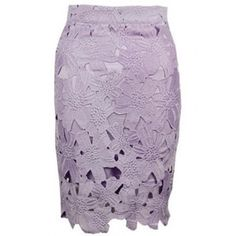 LUCLUC Lavender Lace Bodycon Skirt ($22) found on Polyvore featuring skirts, lucluc, lavender skirt, light purple skirt, lacy skirt, bodycon skirt and lace skirt