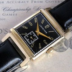 Mens 1945 Longines 14k Solid Gold Fancy Case Vintage Swiss Watch Box Papers | eBay