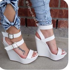 Say hello to your #new fav white wedges VONY White Save 50% off everything FLASH Tag a Babe who would slay in these Click bio to order