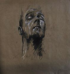Artist Guy Denning is a self-taught English artist currently living in France. Mostly known for his gritty and brooding paintings