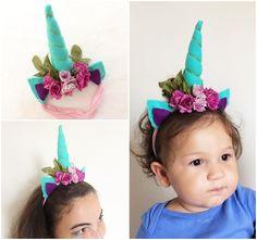 DIY Tiara de unicórnio, unicorn headband