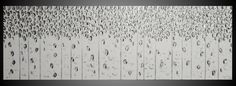 """72"""" x 24"""" Silver Birch tree painting Abstract Modern Acrylic Painting Wall Art Textured White Silver Metallic Modern Ready to Hang art by ilonka by acrylkreativ on Etsy https://www.etsy.com/listing/190604529/72-silver-birch-tree-painting-abstract"""