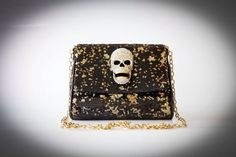 Skull Sequin bag. I wonder how long this took to make! adore the detail soo 2012 :) Handmade on http://www.ananasa.com/