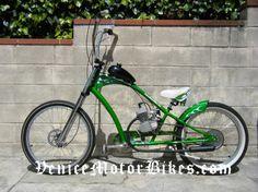 Electra Rat Fink, Motorized Bicycle, Piston Bike, Motored, Moped, Board Track Racer, Vintage Bike, Motorbike, Bicycle Engine, Replica Motorcycle, Rat Rod, Ratrod, Lowrider, Low Rider, Bobber, Chopper, Cruiser, Motor Bike, Cafe Racer