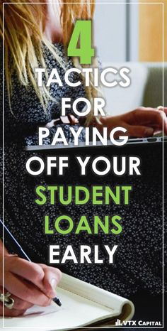 Nobody likes having student debt looming over them.  Young adults are borrowing now more than ever to fund their education, which means a lot of debt to pay back.  It's not impossible, though!  With these 4 tips, you'll be well on your way to paying off your loans early- meaning more money in your pocket. Read them all at: https://vtxcapital.com/learn/student-loan-repayment