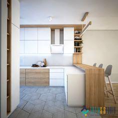 Minimalist Scandinavian, Scandinavian Style, Divider, Loft, House Design, Studio, Bed, Kitchen, Projects