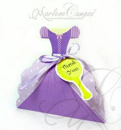Caja a favor de princesa cajas del favor del por PaperArtbyMC