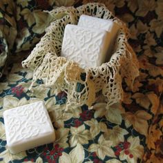 Orange Ginger scented soap in a Celtic Square design