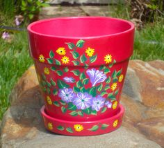 I just listed Pink Flowerpot With Hand Painted Flowers on The CraftStar @TheCraftStar #uniquegifts