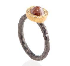 Pamela Froman Red diamond engagement ring