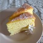 Orange Sponge Cake.  This is how you use up egg yolks when they are left over from another recipe.  Delicious cake, great with strawberries and whipped cream.