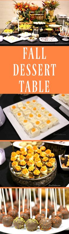 Fall dessert table w
