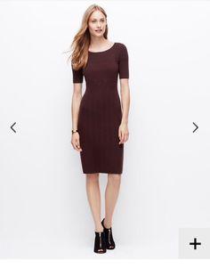 Burgundy sweater dress fall
