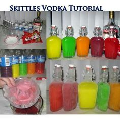 Skittles vodka. Also works with starburst and comes out delicious!