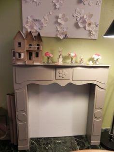 Cardboard Faux Fireplace...pretty impressive!
