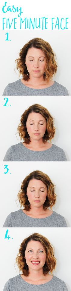 This five minute face makeup tutorial is easy, uses great products and would look great on any skintone!
