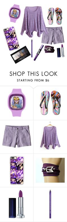 """""""Perfect purples"""" by miss-america316 ❤ liked on Polyvore featuring Patagonia, Casetify, Maybelline and NYX"""