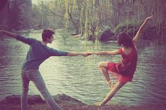 Dancing wherever, whenever the mood strikes, especially when whoever you're with starts dancing with you.